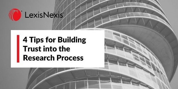 A black and white photo of stacked building that has floors offset from the ones below. 4 Tips for Building Trust into the Research Process.