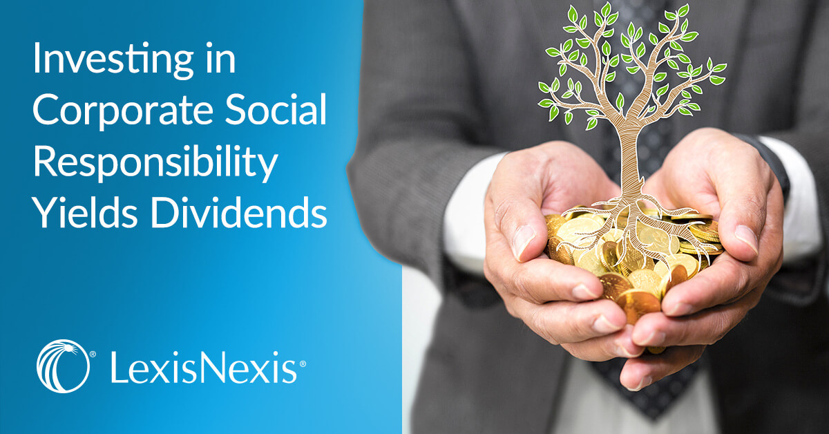 Investing in Corporate Social Responsibility Yields Dividends